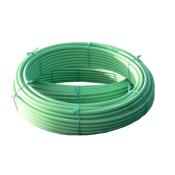 32mm OD PE80 SDR17 PN10 PE Duct Pipe Green 100M